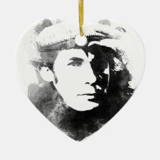Glenn Gould Ceramic Heart Ornament