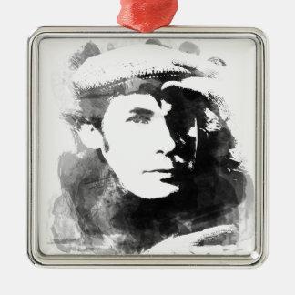 Glenn Gould Silver-Colored Square Ornament