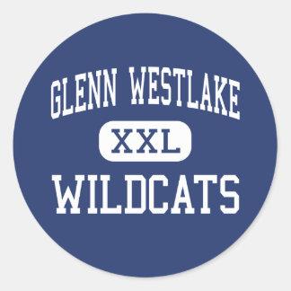 Glenn Westlake Wildcats Middle Lombard Classic Round Sticker