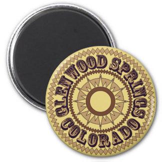 Glenwood Spring Sepia Logo 2 Inch Round Magnet