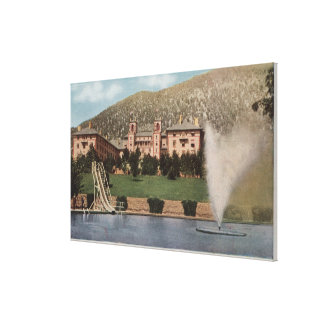 Glenwood Springs, CO - View of Hotel CO & Pool Canvas Print