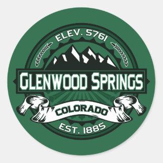 "Glenwood Springs ""Colorado Green"" Logo Round Sticker"