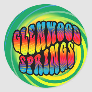 Glenwood Springs Hippy Trippy Sticker
