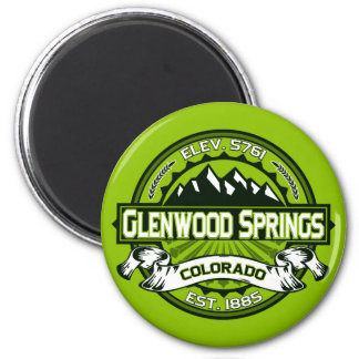 Glenwood Tile Green 2 Inch Round Magnet