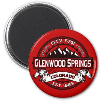 Glenwood Tile Red 2 Inch Round Magnet