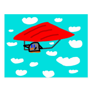 """Glider Ping"" postcard"