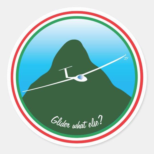 Glider - What else? Classic Round Sticker