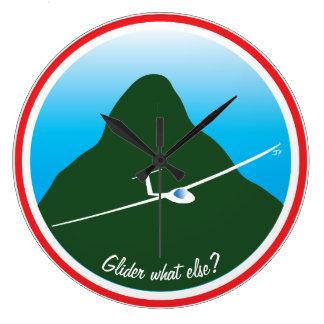 Glider - What else? Large Clock