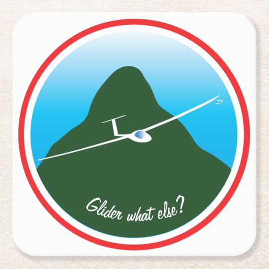 Glider - What else? Square Paper Coaster