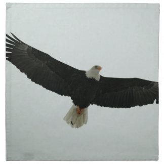 Gliding bald eagle napkin