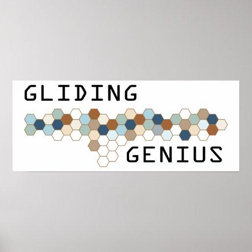 Gliding Genius Poster