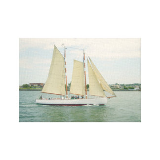 Gliding in Full Sail Canvas Wall Hanging