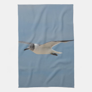 Gliding Laughing Gull Towel