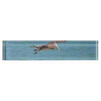 Gliding Pelican Desk Nameplates
