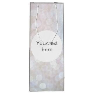 Glimmer Lights Gray White Wine Bottle Gift Bag