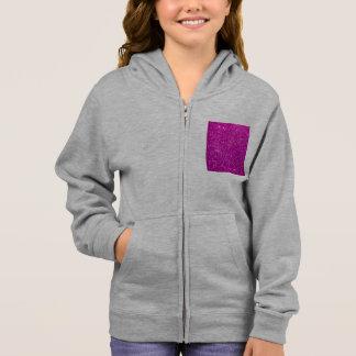Glimmer Purple Shiny Hoodie