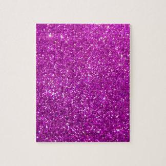 Glimmer Purple Shiny Jigsaw Puzzle