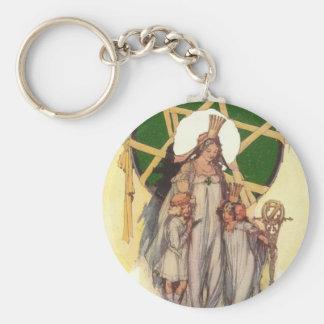 Glinda, Dorothy & Ozma Basic Round Button Keychain
