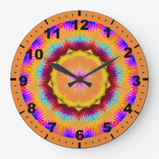 ~ Glistening Ring of Colour Fractal ~ Large Clock