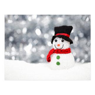 Glistening Snowman Postcard