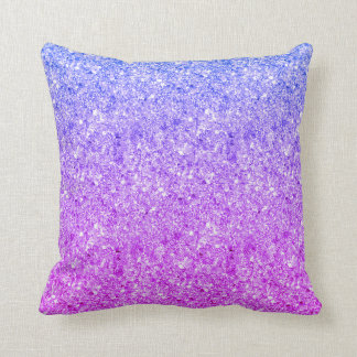 Glistering Colorful Glitter Throw Pillow