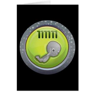 Glitch: achievement bounder tenured greeting card