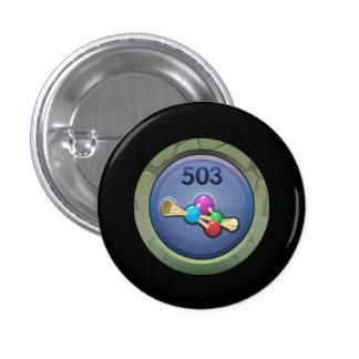 Glitch: achievement effervescence consultant 1 inch round button