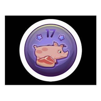 Glitch Achievement piggy nibbler Postcard