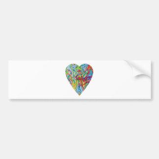 Glitch Art Heart #2 Bumper Sticker