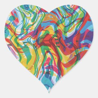 Glitch Art Heart #2 Heart Sticker