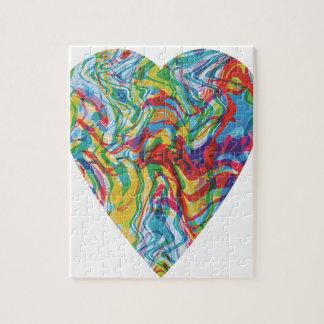 Glitch Art Heart #2 Puzzles