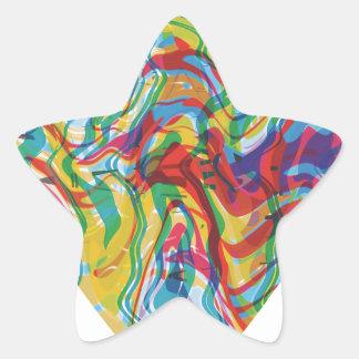 Glitch Art Heart #2 Star Sticker