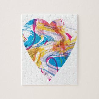 Glitch Art Heart Jigsaw Puzzle