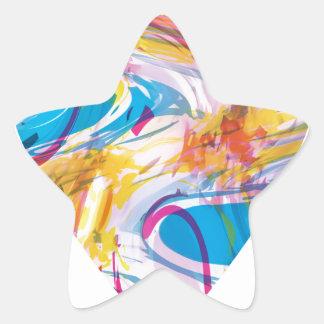 Glitch Art Heart Star Sticker