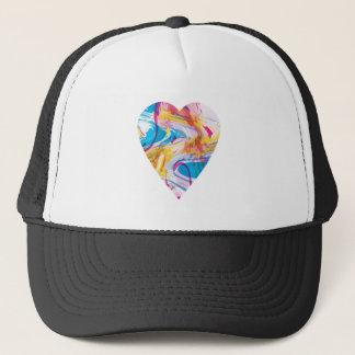 Glitch Art Heart Trucker Hat