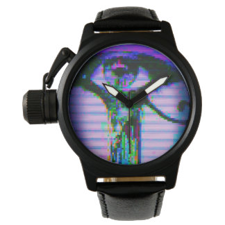 Glitch Eye Watch (Black/Leather)