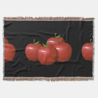 Glitch Food apple Throw Blanket