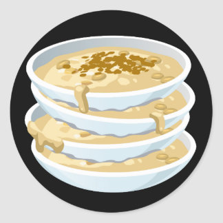 Glitch Food applejack Classic Round Sticker