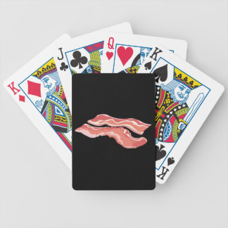 Glitch Food bacon Bicycle Playing Cards