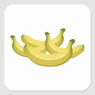 Glitch Food banana Square Sticker