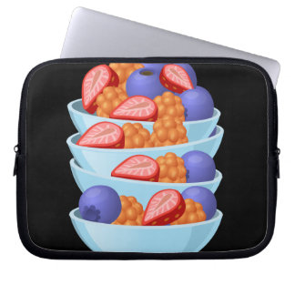 Glitch Food berry bowl Laptop Sleeve