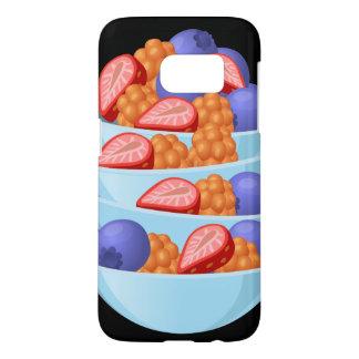 Glitch Food berry bowl Samsung Galaxy S7 Case