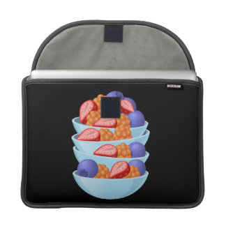 Glitch Food berry bowl Sleeve For MacBook Pro