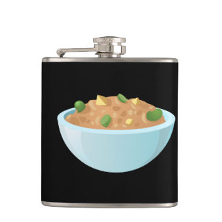 Glitch Food best bean dip Hip Flask