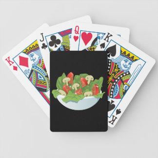 Glitch Food big salad Bicycle Playing Cards
