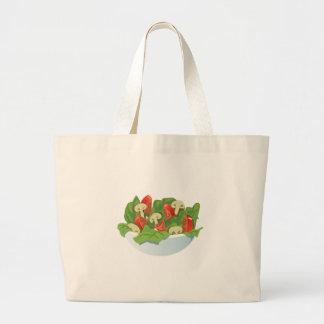Glitch Food big salad Large Tote Bag