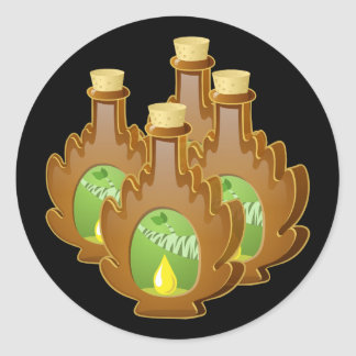 Glitch Food birch syrup Classic Round Sticker