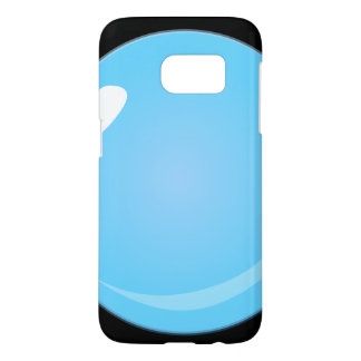 Glitch Food blue bubble Samsung Galaxy S7 Case