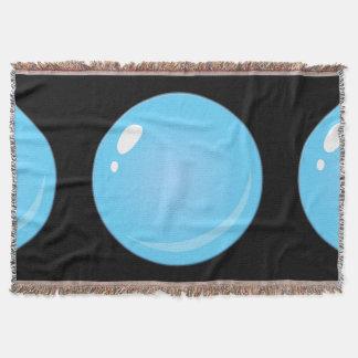 Glitch Food blue bubble Throw Blanket