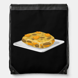 Glitch Food bubble and squeak Drawstring Bag